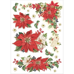 Stamperia - Christmas Vintage - Stars Rice Paper