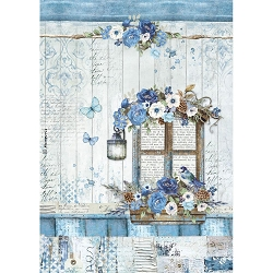 Stamperia - Blue Land - Window Rice Paper