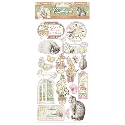Stamperia - Orchids and Cats 6x12 Chipboard Stickers