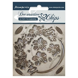Stamperia - Garland of Orchids Laser-Cut Chipboard