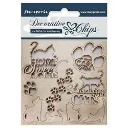 Stamperia - Cats Laser-Cut Chipboard