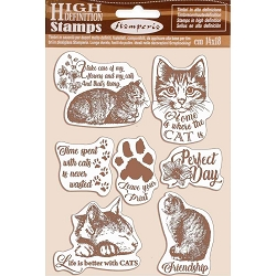 Stamperia - Cling Stamps - Orchids and Cats