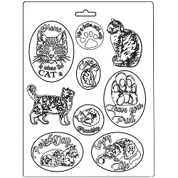 Stamperia - Orchids and Cats A4 Soft Maxi Mould