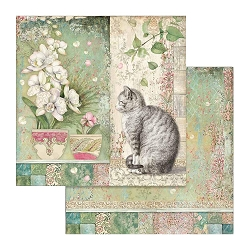 Stamperia - Orchids and Cats - Cat & Vase 12