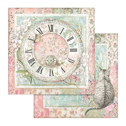 Stamperia - Orchids and Cats - Clock & Cat 12