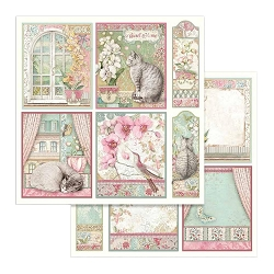 Stamperia - Orchids and Cats - Cards 12