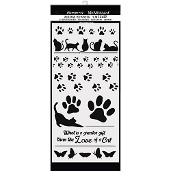 Stamperia - Orchids and Cats Paw Prints Stencil (4.75x9.75)