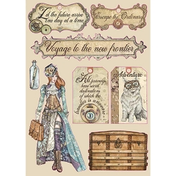 Stamperia - Lady Vagabond Labels Wood Shapes
