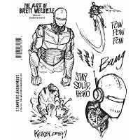 Stamper's Anonymous - Brett Weldele Cling Rubber Stamp Set - Johnny Rivet