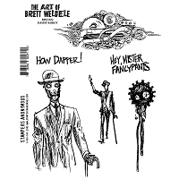 Stamper's Anonymous - Brett Weldele Cling Rubber Stamp Set - Dandy Robot