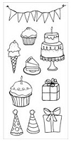 Stamper's Anonymous/Ranger - Claudine Hellmuth - Studio Clear Stamps - Party Time