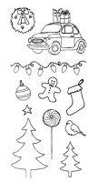 Stamper's Anonymous/Ranger - Claudine Hellmuth - Studio Clear Stamps - Christmas