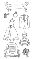 Stamper's Anonymous/Ranger - Claudine Hellmuth - Studio Clear Stamps - Wedding