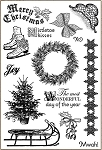 Darcie's Cling Mounted Rubber Stamps - Vintage Christmas