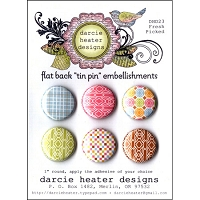Darcie's - Flat Back Tin Pin Embellishments - Fresh Picked