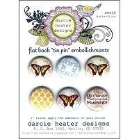 Darcie's - Flat Back Tin Pin Embellishments - Butterflies