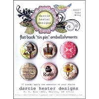 Darcie's - Flat Back Tin Pin Embellishments - Take Wing