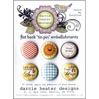 Darcie's - Flat Back Tin Pin Embellishments - My Sunshine