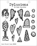 Dylusions - Cling Rubber Stamps - Love Struck Lucy