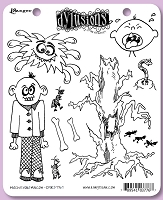 Dylusions - Cling Rubber Stamps - Michievous Malcom