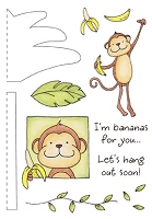 Inky Antics - Clear Stamps - Monkey