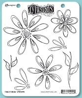 Dylusions - Cling Rubber Stamps - Fancy Florals