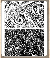 Tim Holtz - Cling Rubber Stamp Set - Marble & Doily