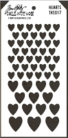 Stamper's Anonymous / Tim Holtz - Layering Stencil - Hearts