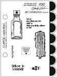 Stamper's Anonymous - Studio 490 Small Stamp Set - Art Inspiration