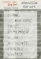 Stamper's Anonymous/Studio 490 - Stencils For Art by Wendy Vecchi  - Classic Words