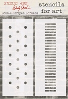 Stamper's Anonymous/Studio 490 - Stencils For Art by Wendy Vecchi  - Dots & Stripes Borders