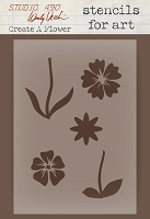 Stamper's Anonymous/Studio 490 - Stencils For Art by Wendy Vecchi  - Create A Flower