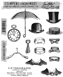 Stamper's Anonymous / Tim Holtz - Cling Mounted Rubber Stamp Set - Distinguished