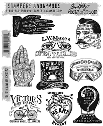 Stamper's Anonymous / Tim Holtz - Cling Mounted Rubber Stamp Set - Eclectic Adverts