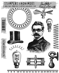 Stamper's Anonymous / Tim Holtz - Cling Mounted Rubber Stamp Set - The Professor