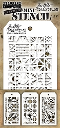 Stamper's Anonymous / Tim Holtz - Mini Layering Stencils - Set #41