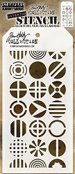 Stamper's Anonymous / Tim Holtz - Layering Stencil - Patchwork Circle