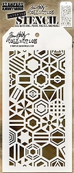 Stamper's Anonymous / Tim Holtz - Layering Stencil - Patchwork Hex