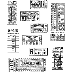 Stamper's Anonymous / Tim Holtz - Cling Mounted Rubber Stamp Set - Ticket Booth