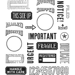 Stamper's Anonymous / Tim Holtz - Cling Mounted Rubber Stamp Set - Mail Art