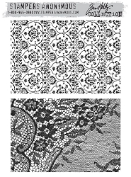 Stamper's Anonymous / Tim Holtz - Cling Mounted Rubber Stamp Set - Ornate & Lace