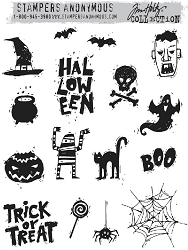Stamper's Anonymous / Tim Holtz - Cling Mounted Rubber Stamp Set - Spooky Scribbles :)
