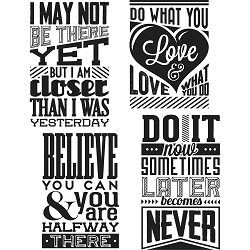 Stamper's Anonymous / Tim Holtz - Cling Mounted Rubber Stamp Set - Motivation 3