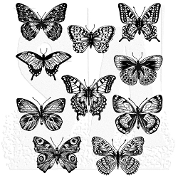 Stamper's Anonymous / Tim Holtz - Cling Mounted Rubber Stamp Set - Flutter