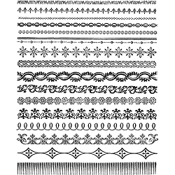 Stamper's Anonymous / Tim Holtz - Cling Mounted Rubber Stamp Set - Ornate Trims