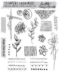 Stamper's Anonymous / Tim Holtz - Cling Mounted Rubber Stamp Set - Mini Media Marks