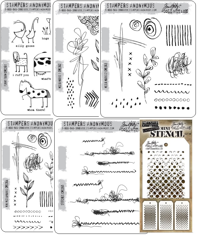 Tim Holtz Stamps & Stencils (Late January release)