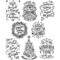 Stamper's Anonymous / Tim Holtz - Cling Mounted Rubber Stamp Set - Mini Doodle Greetings