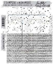 Stamper's Anonymous / Tim Holtz - Cling Mounted Rubber Stamp Set - Flurry & Pine