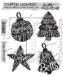 Stamper's Anonymous / Tim Holtz - Cling Mounted Rubber Stamp Set - Carved Christmas #2
